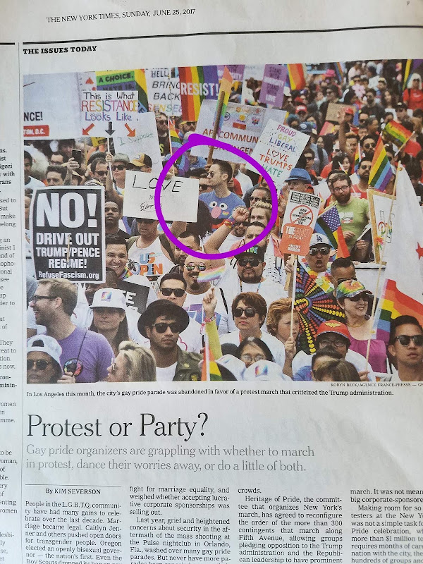 New York Times LGBT Resist March LA article
