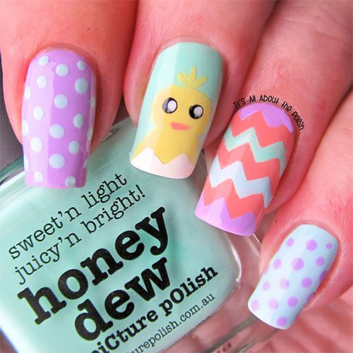 15 Easter Chick Nails Art Designs & Ideas 2019