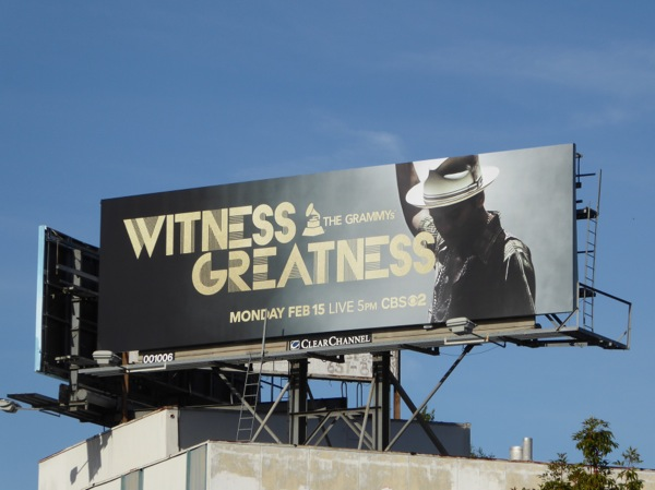 2016 Grammys Witness Greatness billboard