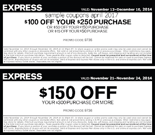free Express coupons april 2017
