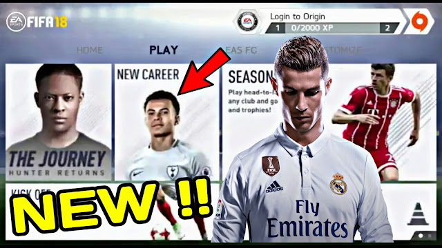 FIFA 14 MOD FIFA 18 ANDROID | NEW MENU + KITS UPDATED!