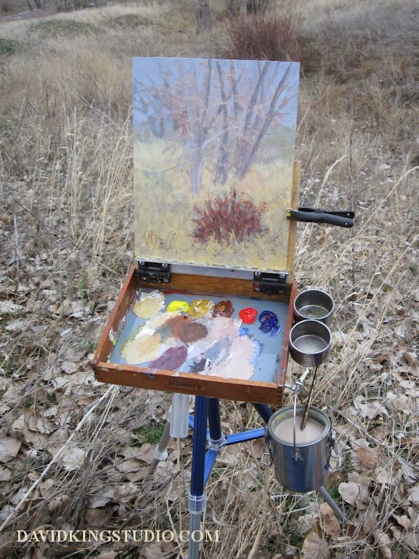 art painting plein air pochade homemade palette