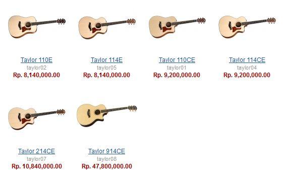 Daftar Harga Gitar Akustik Yang Murah Sampai Paling Mahal