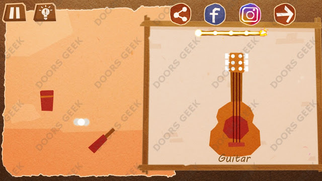 Chigiri: Paper Puzzle Novice Level 28 (Guitar) Solution, Walkthrough, Cheats