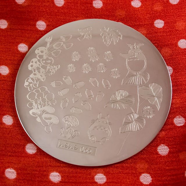 Harunouta HeHe plate stamping 065 сосед тоторо