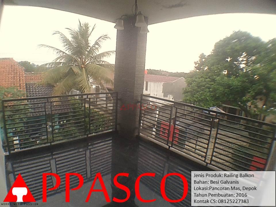 Railing Balkon Minimalis di Pancoran Mas Depok
