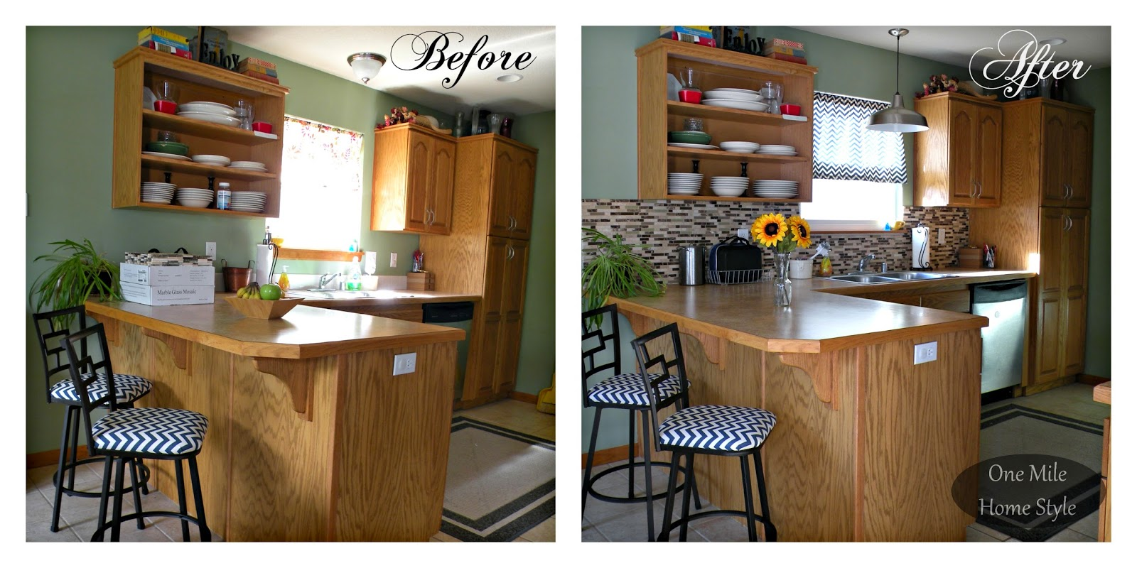 Kitchen Mini-Makeover - Before and After