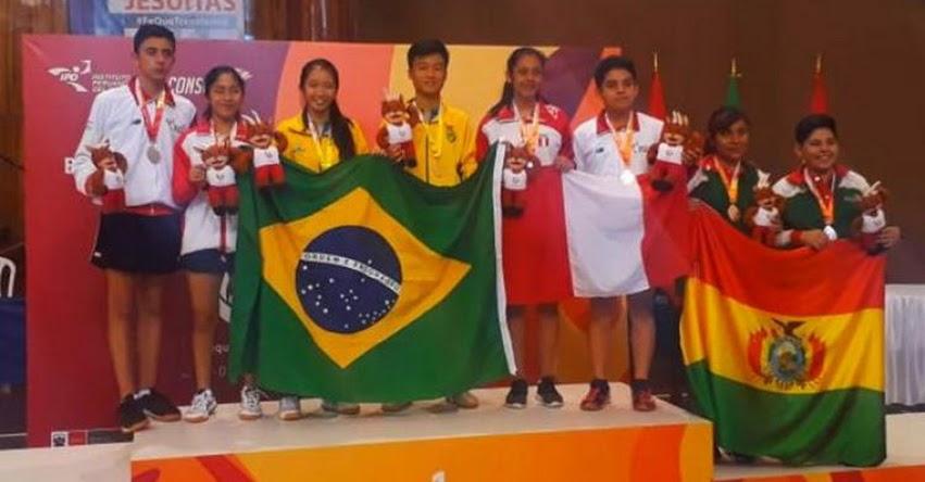 Tenis de mesa y atletismo triunfan en los juegos Sudamericanos escolares Arequipa 2018