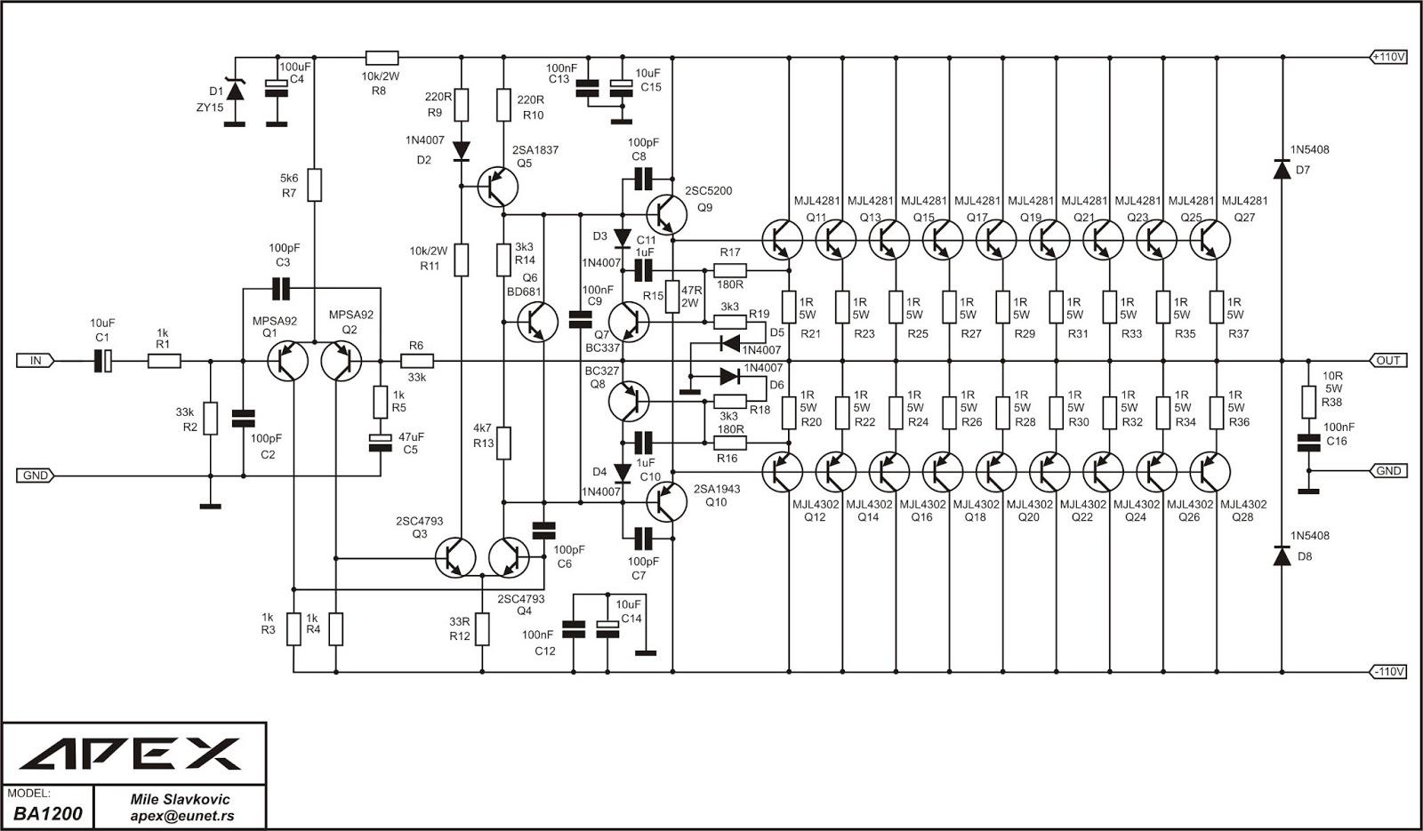 Power Amplifer Apex Elektronika
