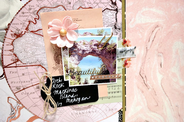 Beautiful Layout Closeup by Dana Tatar for Scraps of Darkness - August 2017 Sparkle + Shine Kit