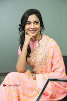 Actress Ritu Varma Pos in Beautiful Pink Anarkali Dress at at Keshava Movie Interview .COM 0190.JPG