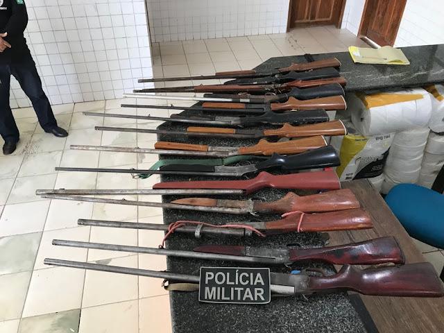 Chapadinha: 14 espingardas são apreendidas em fábrica clandestina