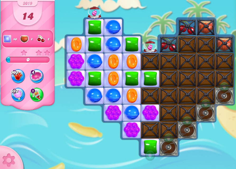 Candy Crush Saga level 3019