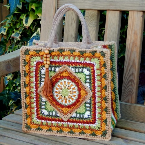The Jackfield Tile Tote Bag - Free Pattern