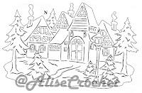 новогодние трафареты дом
