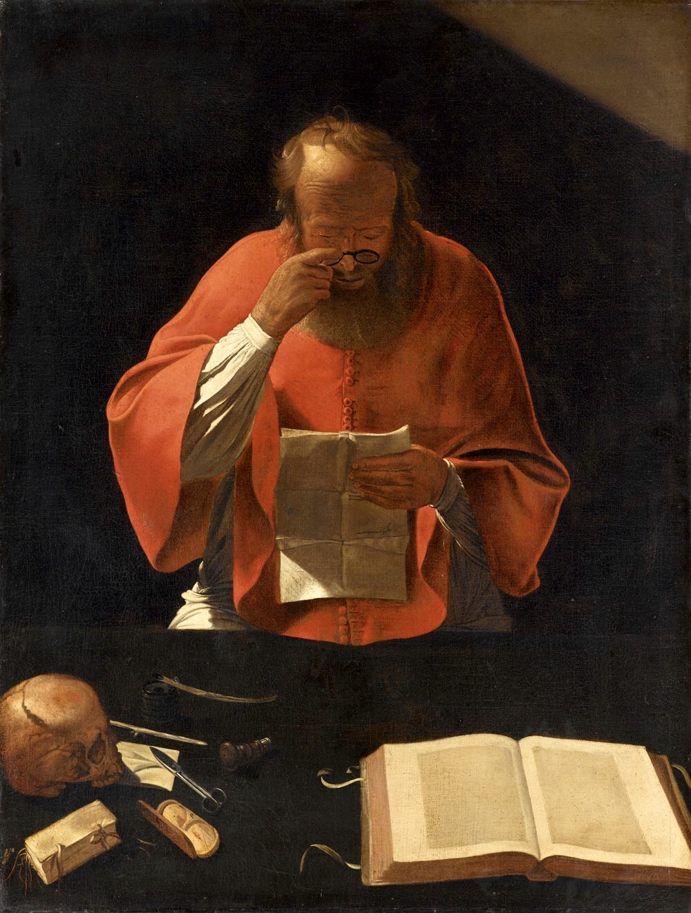Картинки по запросу giclée-druck: la tour's saint jerome reading (cop), ca 1636, 61x46cm.