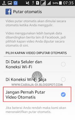 Cara Menonaktifkan Autoplay Video Facebook di Android