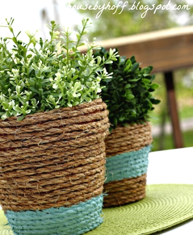 rope wrap terra cotta pots