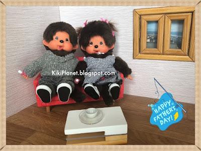 kiki monchhichi bebichhichi fête des pères papa vintage toys story