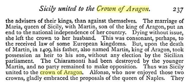 Crown of Aragon, Henry Hallam, historiador