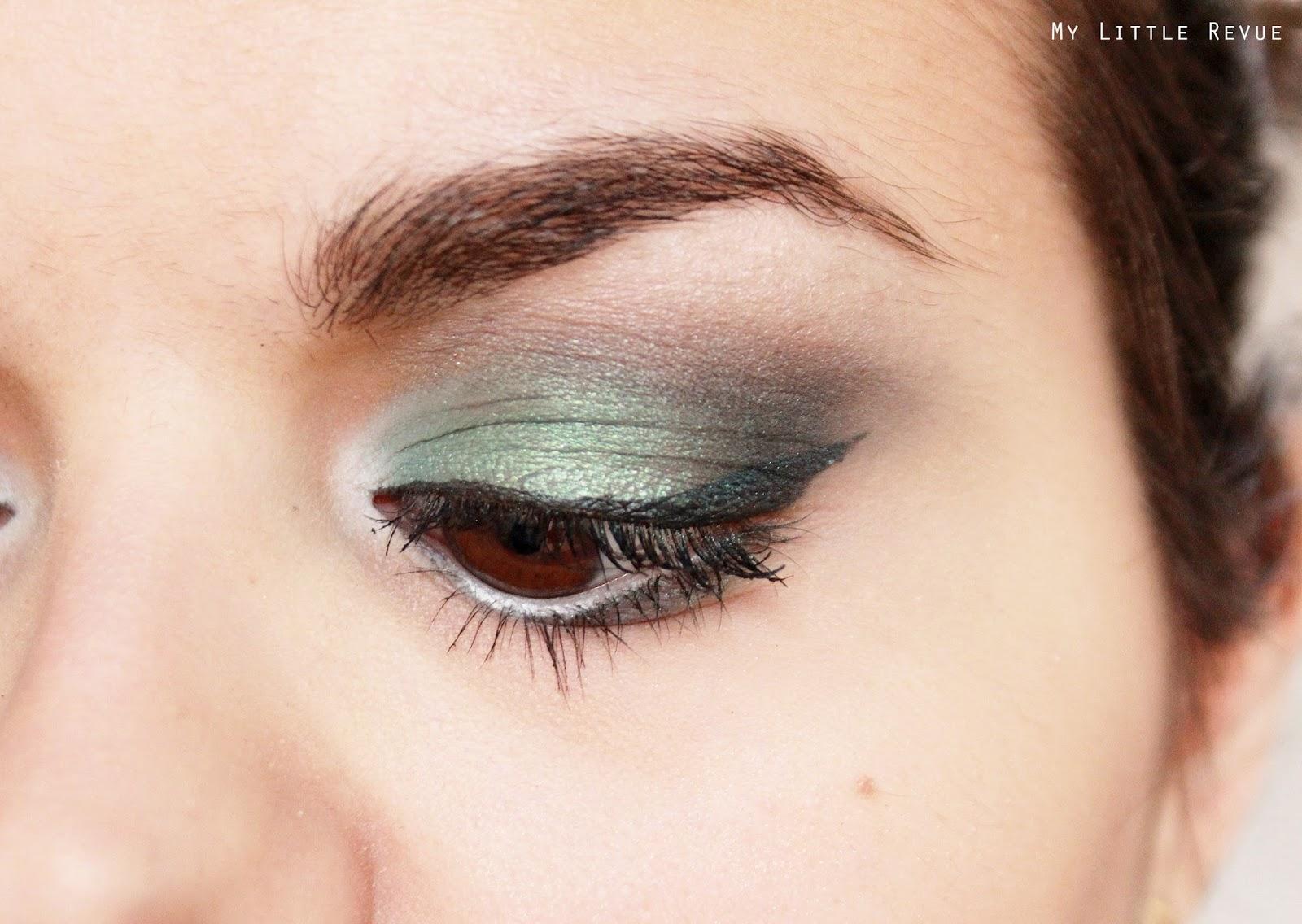 tutoriel maquillage vert pour une soirée