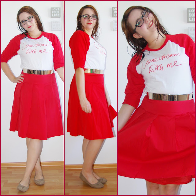 [Fashion] Come Dream With Me: Charity Tee with Red Skirt