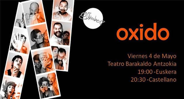 Cartel de la obra de teatro Oxido