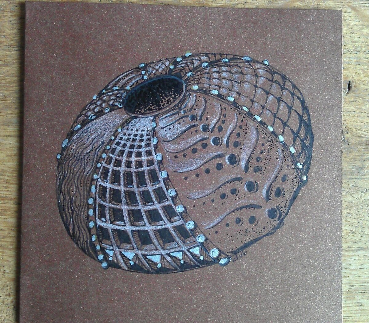 09-Urchin-Doodle-Card-Deborah-Elaborate-Zentangle-Drawings-www-designstack-co