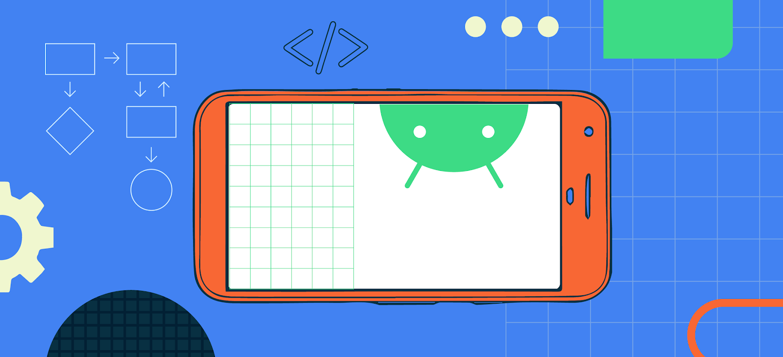 animated Android header image for blog post