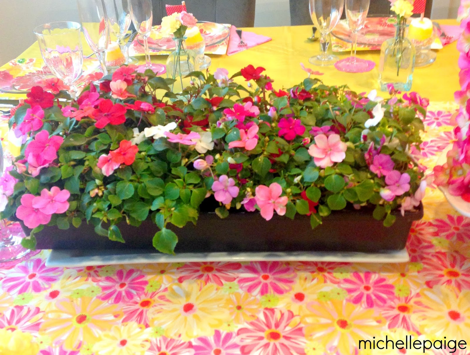 I like to use glass plates on top of patterned paper plates. After the meal is served the glass plates are collected. The paper plate is then ready for ... & michelle paige blogs: Floral Motheru0027s Day Party