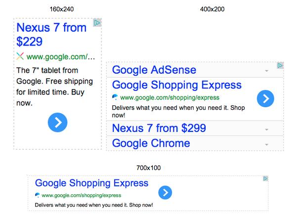 AdSense New Ad Sizes