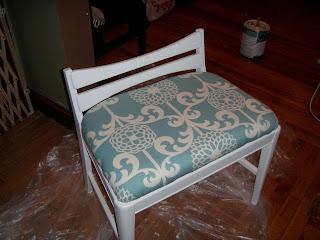 Ashley Diy Reupholstered Vanity Stool