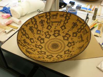 Spicer Art Conservation, object conservation, preservation, repair, antique baskets, Native American art, artifacts, objects.