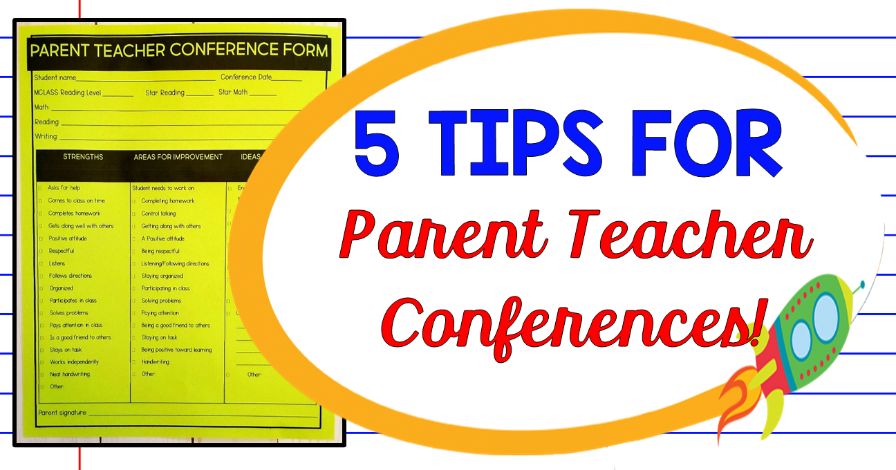 5 Tips for Successful Parent Teachers Conferences! with Freebies
