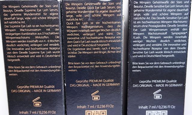 Develle Premium Cosmetics Wimpernserum Test