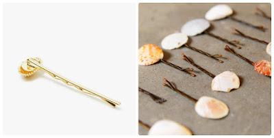 DIY Τσιμπιδάκια για τα μαλλιά από κοχύλια