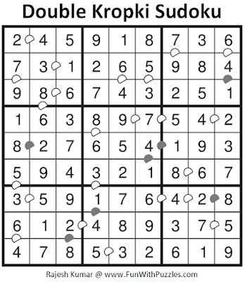 Answer of Double Kropki Sudoku Puzzle (Daily Sudoku League #217)