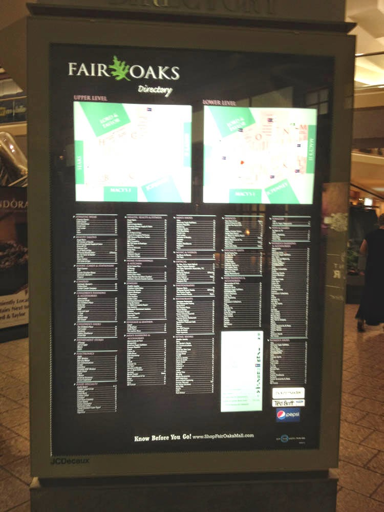 Fair Oaks Mall Shopping Center is a cultural feature (locale) in Fairfax County. The primary coordinates for Fair Oaks Mall Shopping Center places it within the VA ZIP Code delivery area.