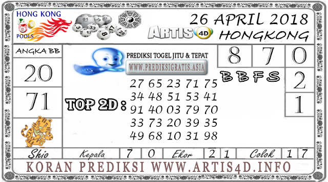 PREDIKSI TOGEL HONGKONG 26 APRIL 2018