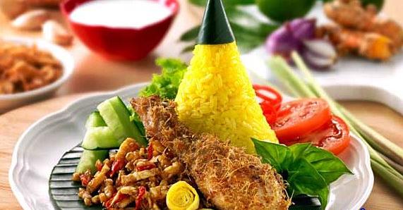 Resep nasi kuning tradisional komplit