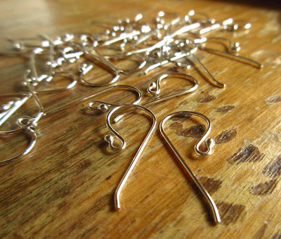argentium silver earwires - cinnamon jewellery
