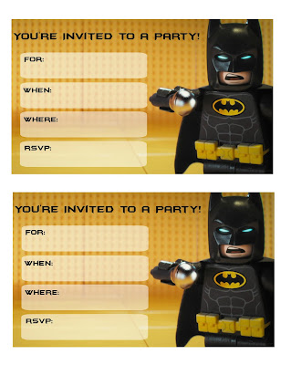 printable lego batman movie invitations