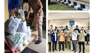 Kecamatan Serpong terima Bantuan 300 sembako dari Pemprov Banten untuk masyarakat terdampak Covid-19