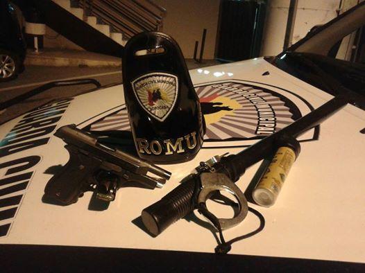 ROMU Sorocaba detém pelo bairro Santa Bárbara elemento armado