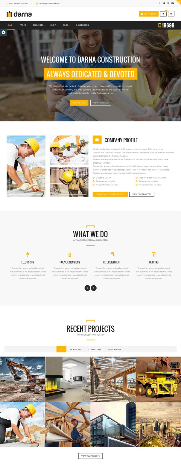 Best Construction WordPress Theme