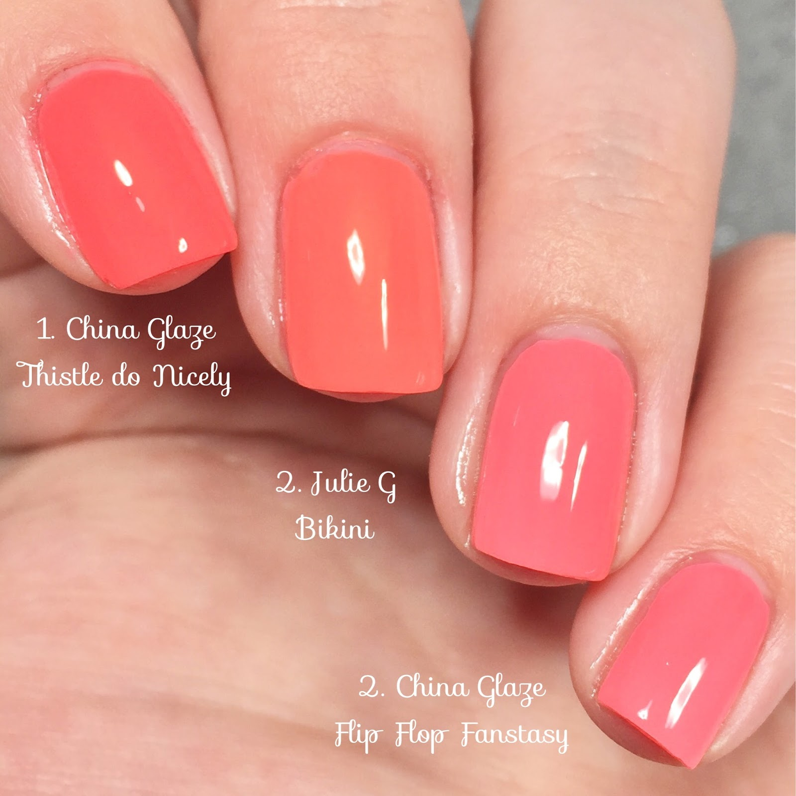 China Glaze Comparisons