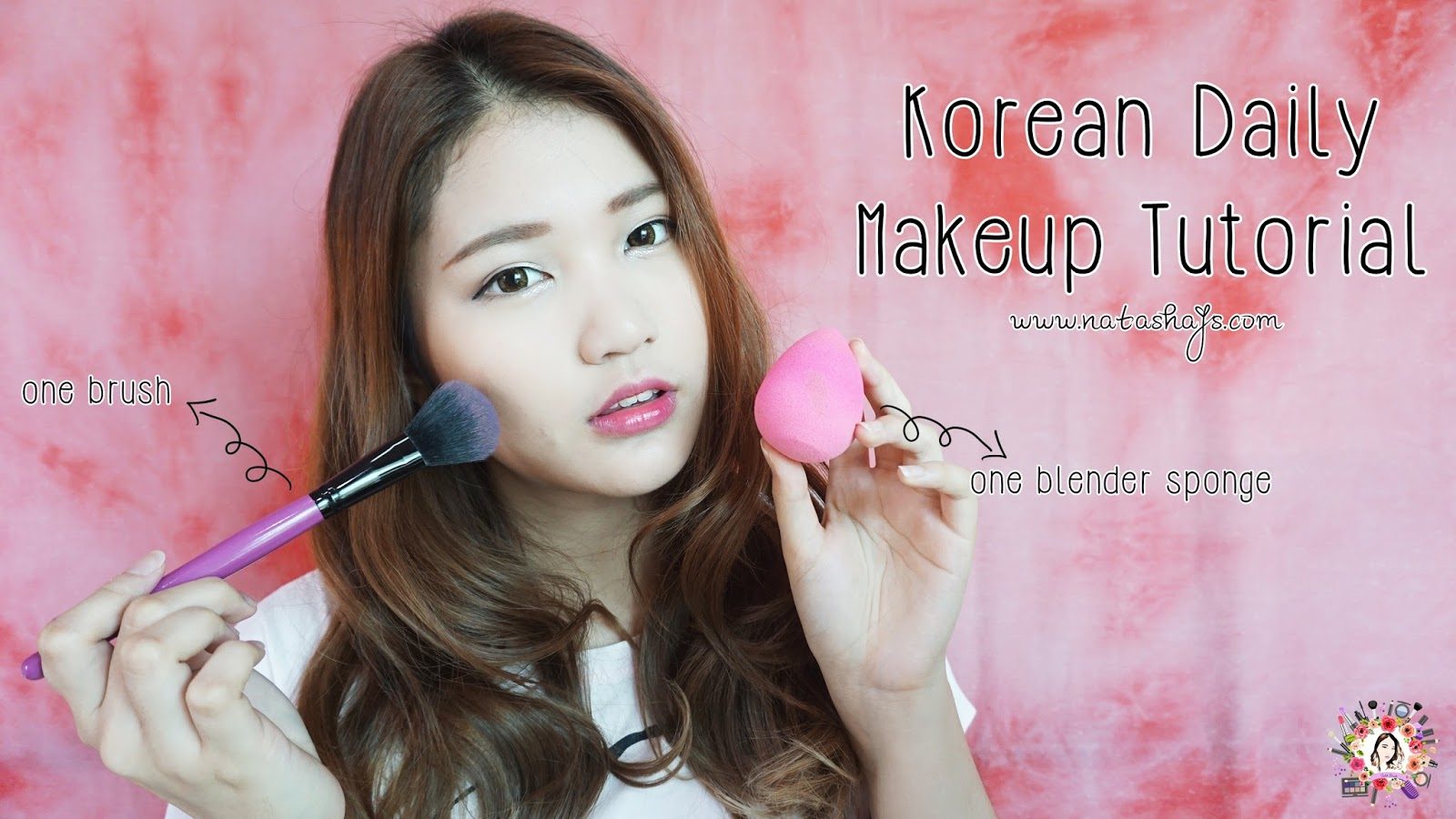 Violet Brush Indonesian Beauty Blogger 2016 Secret Key Glam Lip Tint Glos 1 Pink Orange Korean Daily Makeup Tutorial Using Only One Blender