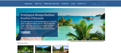 Tempat Source Code Scripts Travel & Tour berbasis Web PHP & MYSQL