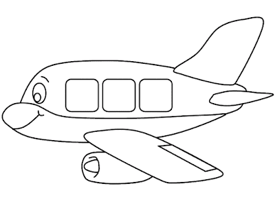 Gambar Mewarnai Pesawat Terbang - 9