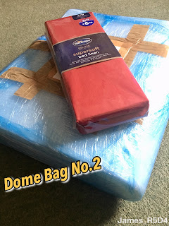 Dome foam protection, dome bag